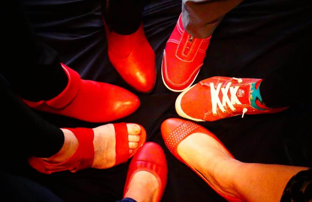 NOFASD red shoes