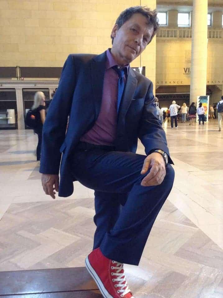 RJ Formanek rocking his red shoes